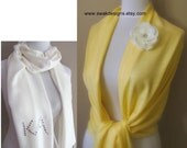 Pale Yellow Pashmina Scarf Wedding Scarf Bridesmaid Gift Idea Wedding Shawl Wrap Stole Wedding Favor Gifts - or CHOOSE Your Color