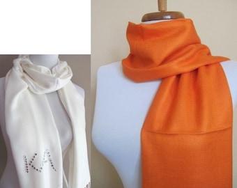 Orange Pashmina Scarf, Bridesmaid Shawl, Wedding Shawl Wedding Accessories Bridal Wrap Gift Set - or CHOOSE Your Color