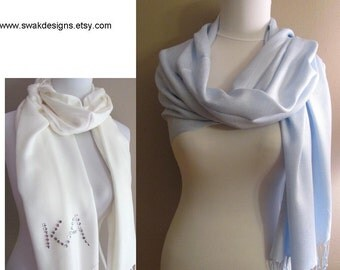Light Blue Pashmina Scarf Wedding Pashmina Bridal Accessories Bridesmaid Gift Idea Stole - CHOOSE Your Color