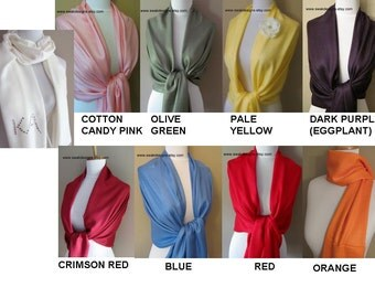 Womens Scarf Wedding Pashmina Scarf High Quality Wedding Shawl Set Wedding Gifts Favors Bridesmaid Gift Idea CHOOSE Any colors