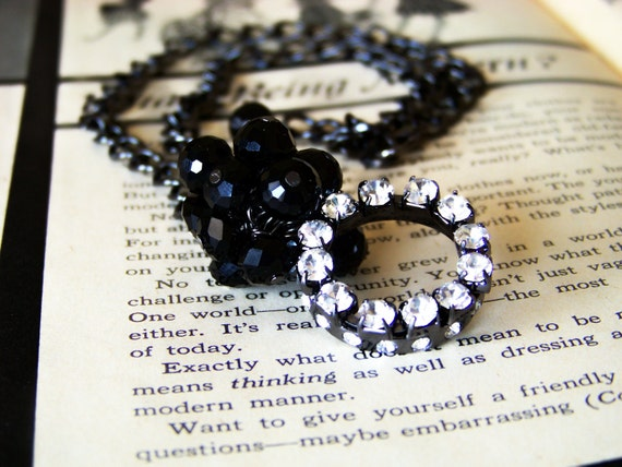 Black and Rhinestone Necklace (reserved for Tami McCartney)