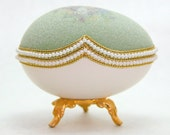 Exuberant Forest Flowers Faberge Style Decorated Egg