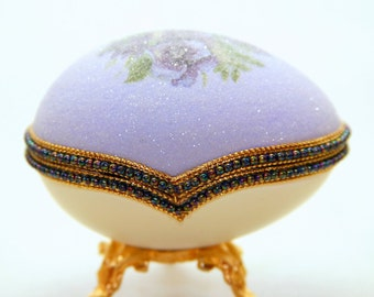 Enchanted Garden Flowers Faberge Style Decorated Egg