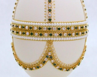 Magnificent Beaux Arts Ball Faberge Style Jeweled Egg