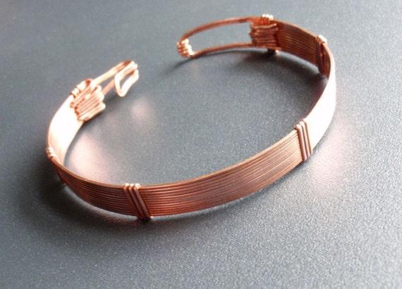 Copper Bracelet, Bangle Bracelet, Healing, Unisex, 7.75 inches