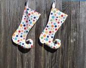 Christmas Stockings Polka Dot  fantasy elf toe curly set