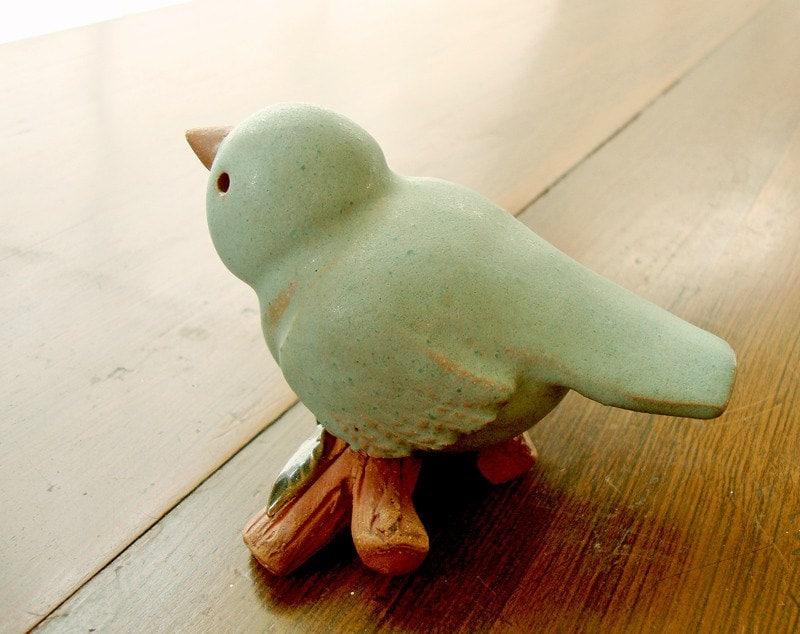 Blue Bird Home Decor Original Ceramic Sculpture