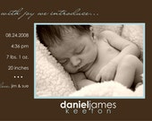 With Joy - Birth Announcement
