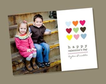 Row of Hearts - Custom Valentines Day Photo Card