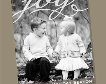 Joy Top - custom photo holiday card