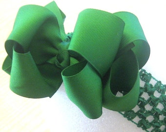 Large Hairbows, big hair bow, boutique hairbow, green bow, Emerald Green hairbow, boutique bows, boutique hairbow, big bows, big hairbow