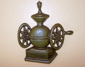 Wall Decor, Cottage Chic, Country Farmhouse, Butter Churn, Coffee Grinder, Grain Mill, Green, Vintage, Home Decor, Tea Kettle, Billows,