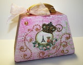 FREE SHIPPING decorated trinket boxes Decorative Box Purse eiffel tower home decor