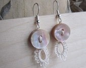 Ivory & Mother of Pearl TAT-astic Earrings