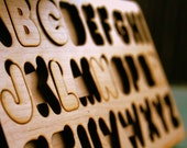 Alphabet Puzzle- Verified Sustainable Sourced Solid Maple