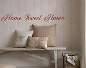 Home Sweet Home vinyl wall lettering decal Custom Order