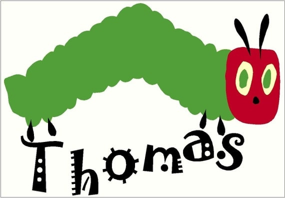 the very hungry caterpillar personalized wall sticker kids wall stickers wall stickers hungry caterpillar