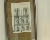 Vintage French Postcard In Old French Frame