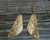 Brass Fans Vintage Earrings ((FREE SHIPPING))