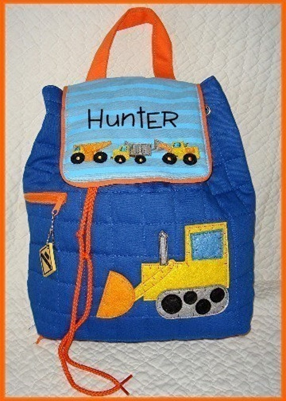 Personalized CONSTRUCTION TRUCKS Quilted Backpack by Stephen Joseph