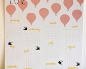 S A L E : 2012 Calendar - HOT AIR BALLOONS