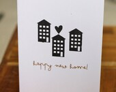 HAPPY NEW HOME - screen printed greetings card
