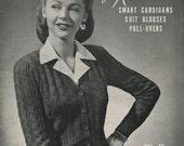 Vintage 1943 Sweater Knitting Pattern Book