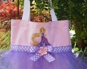 Princess Rapunzel Tangled Mini Tutu Tote Bag