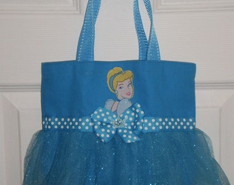 Princess Cinderella Mini Tutu Tote Bag