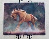 """HUGE Wild Palomino Horse on Gallery Wrap Canvas 30"""" x 24"""""""