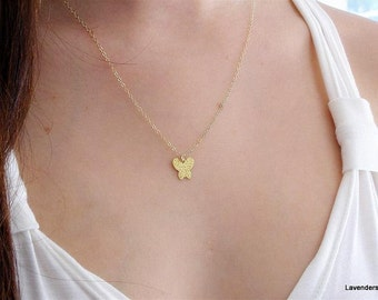 Gold Butterfly Necklace ,  gold fill , Gold Butterfly,  Modern Minimalist , Everyday Jewelry