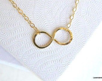 Gold Fill Infinity Necklace ,  Infinity Necklace ,  Everyday Necklace ,  Bridesmaid Necklace , Eternity  Infinity Jewelry