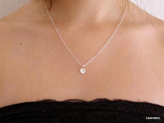 Tiny Silver Dot Necklace