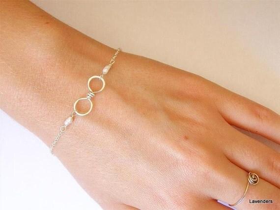 Infinity Bracelet , Sterling Silver Infinity Bracelet , Pearl , Modern Minimalist , Eternity , Infinity Jewelry , June Birthday , Adjustable
