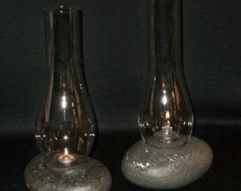 Hurricane Stone Lamp