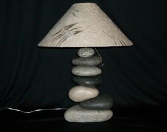 STONE LAMP....large balance rock lamp