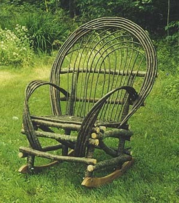 Maine Rustic Twig  Rocking Chair