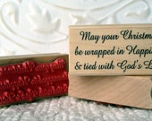 Tied with God's Love Verse rubber stamp from oldislandstamps