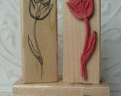 Tulip Spring Flower rubber stamp from oldislandstamps