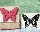 Butterfly rubber stamp from oldislandstamps