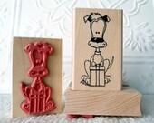 Boomer's Gift dog rubber stamp from oldislandstamps