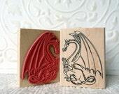 Large Dragon rubber stamp from oldislandstamps