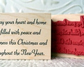May your Heart and Home be filled with Peace verse rubber stamp from oldislandstamps