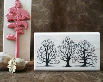 Winter Trees rubber stamp from oldislandstamps