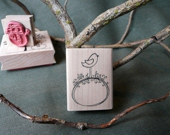 Sweet Little Bird rubber stamp from oldislandstamps