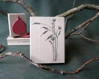Prairie Flowers rubber stamp from oldislandstamps