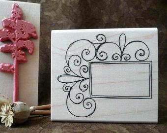 Curly frame rubber stamp from oldislandstamps
