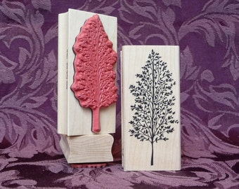 Tall tree rubber stamp from oldislandstamps