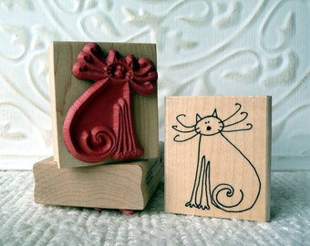 Kitty cat rubber stamp from oldislandstamps