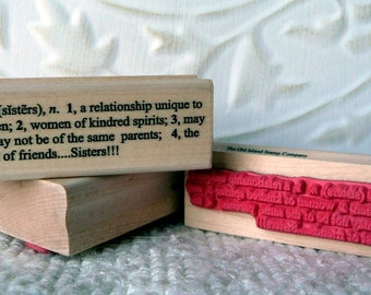 Sisters Definition rubber stamp from oldislandstamps